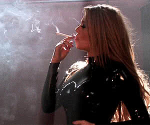 Smoking animated GIF