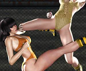 3d Female Wrestling