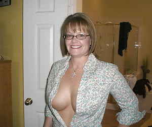 Cleavage real mature wife