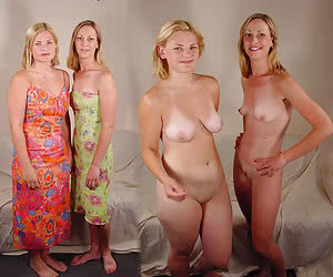 Dressed undressed women naked then